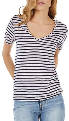 Michael Stars Striped V-Neck Tee