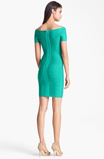 Herve Leger Women's 'Carmen' Off The Shoulder Bandage Dress