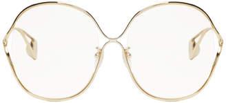 Gold Oversized Circle Glasses