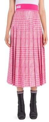 Fendi Houndstooth Elastic Waist Skirt