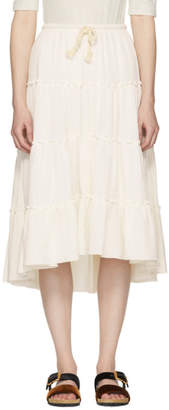 See by Chloe White Cheesecloth Drawstring Skirt
