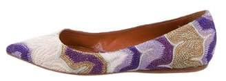 Missoni Knit Pointed-Toe Flats