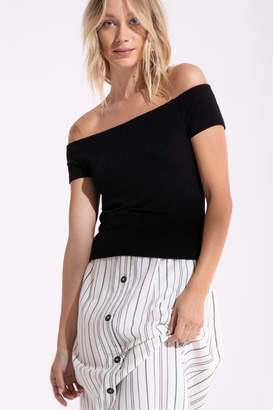 Black Swan Beau Black Cropped Top