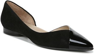Naturalizer Leather Open Side Pointed Toe Flats- Hayden