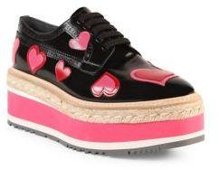 Prada Heart Leather Brogue Platform Oxfords $1,250 thestylecure.com