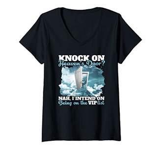 Womens Heaven shirt for men women kids Enter Heavens VIP LIST gift V-Neck T-Shirt