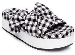 Design Lab Jayla Checkered Bow Platform Sandals
