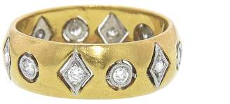 Cathy Waterman Floating Geo Shape Band Ring