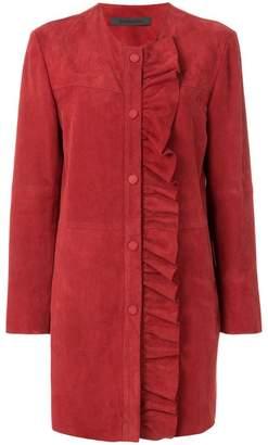 Simonetta Ravizza ruffle detail coat