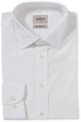 Armani Collezioni White Modern Fit Dress Shirt