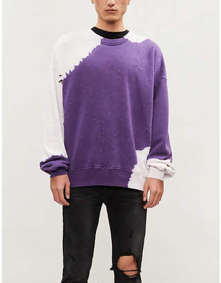 at Selfridges · Amiri Bleached distressed cotton-jersey sweatshirt e1b473d7d