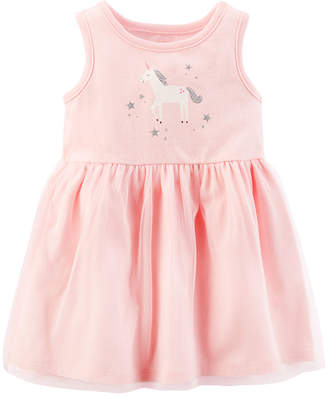 Carter's Pink Unicorn Sleeveless Fit & Flare Dress - Baby Girl NB-24M