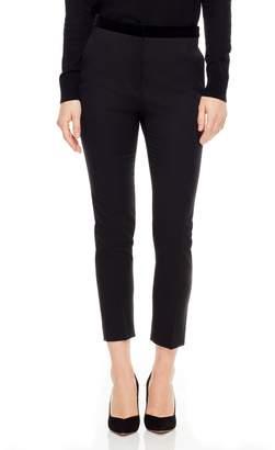 Sandro Velvet Waistband Slim Pants