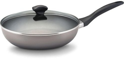 Farberware 10.5-in. Nonstick Dishwasher Safe Nonstick Covered Skillet, Champagne