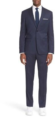 Men's John Varvatos Star Usa Trim Fit Stripe Wool Suit $795 thestylecure.com