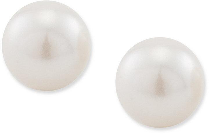 Carolee Earrings, Glass Pearl Stud