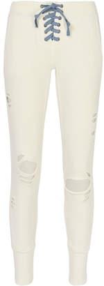 NSF Maddox Lace-Up Ivory Sweatpants