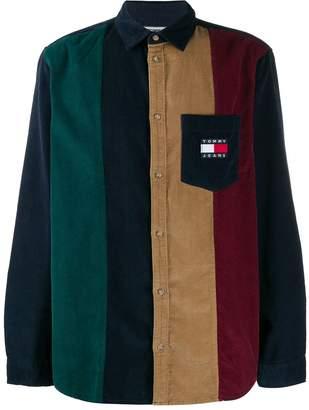 Tommy Jeans colour-block corduroy shirt