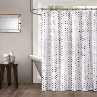 Mainstays Rose Gold Metallic Dot Shower Curtain