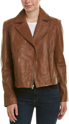 Cole Haan Drum Dyed Leather Jacket