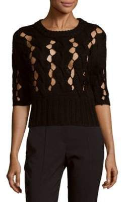 DKNY Cable Knitted Wool Sweater