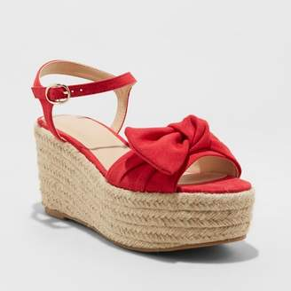 A New Day Women's Happy Bow Espadrille Wedges