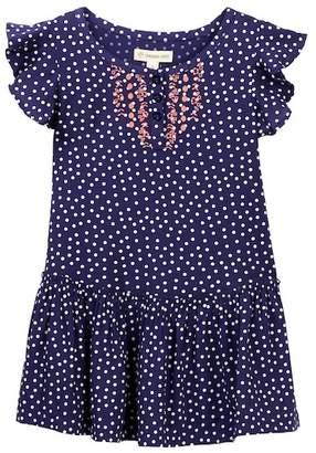 Tucker + Tate Polka Dot Flutter Dress (Toddler & Little Girls)