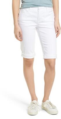 Wit & Wisdom Ab-solution White Bermuda Shorts