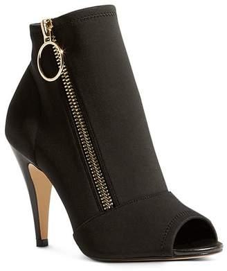 Karen Millen Women's Neoprene Peep Toe High Heel Booties
