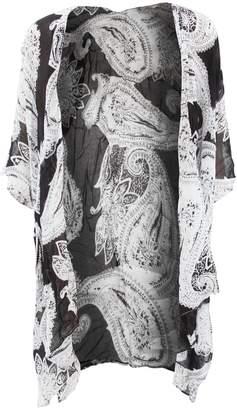 Universal Textiles Womens/Ladies Short Sleeve Summer Cardigan With /Aztec Design