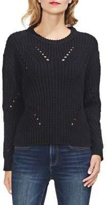 Vince Camuto Petite Estate Jewels Petite Transfer Knit Pullover