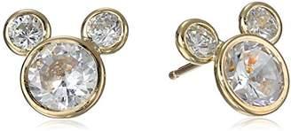 Disney 14k Gold Cubic Ziconia Stud Earrings