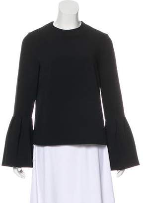 Edit Crew Neck Bell Sleeve Top