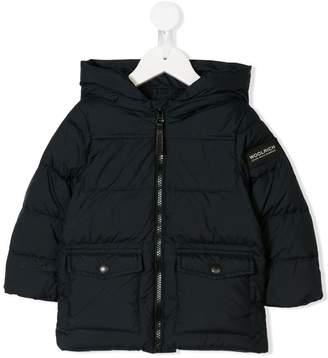 Woolrich Kids logo patch padded coat