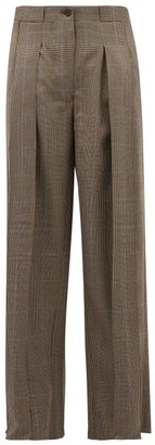 Giuliva Heritage Collection The Bernado Prince Of Wales Checked Wool Trousers - Womens - Brown Multi
