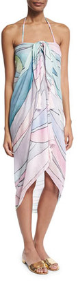 Mara Hoffman Waves Tassel Sarong, Dusty Rose $100 thestylecure.com