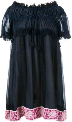 Chloé off-shoulder embroidered dress