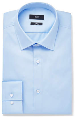 HUGO BOSS Blue Jenno Slim-Fit Cotton Oxford Shirt