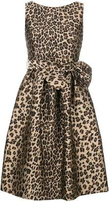 P.A.R.O.S.H. bow detail leopard print dress