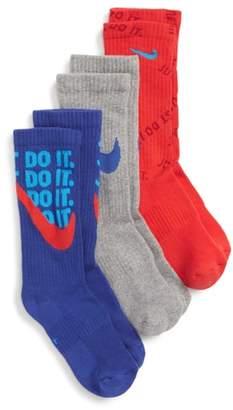 Nike Performance 3-Pack Cushioned Crew Socks