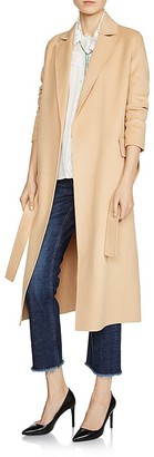 Maje Geode Double-Faced Long Coat $845 thestylecure.com