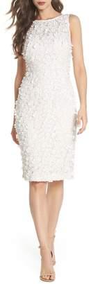 Eliza J Applique Lace Sheath Dress