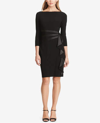 American Living Satin Ruffle Sheath Dress $89 thestylecure.com