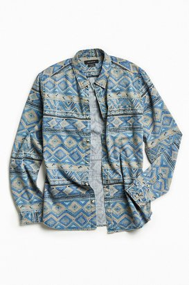 Urban Outfitters UO Denim Blanket Stripe Button-Down Shirt $59 thestylecure.com