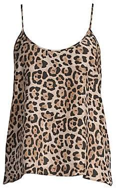 ATM Anthony Thomas Melillo Women's Leopard Print Silk Cami