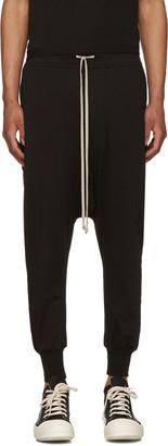 Rick Owens Drkshdw Black Jersey Prisoner Drawstring Lounge Pants $495 thestylecure.com