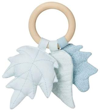Cam Cam Leaves Wood and Fabric Rattle