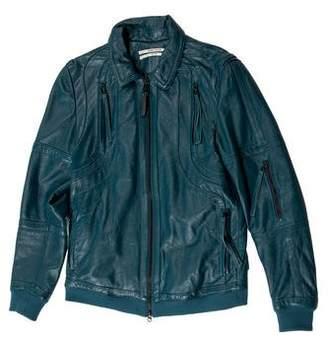 Robert Geller Leather Cafe Racer Jacket