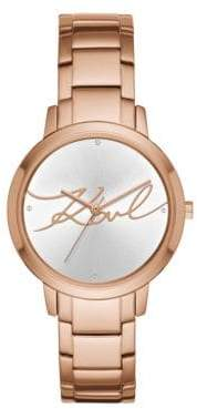 Karl Lagerfeld Camille Stainless Steel Bracelet Watch