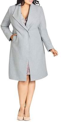 City Chic Plus Mid Length Coat